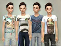 The Sims Resource: T-Shirts for Boys 01 by lillka • Sims 4 Downloads