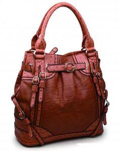 Urban Expressions Handbags Ren Vegan Leather Bag Cognac