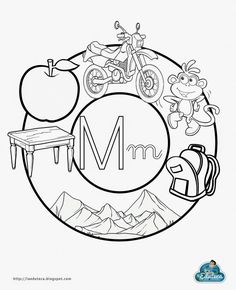M Speech Language Therapy, Speech And Language, Baby Learning, Learning Spanish, Alphabet Activities, Preschool Activities, Preschool Sight Words, Preschool Education, English Book