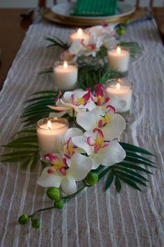 May 2020 - orchid wedding centerpieces wedding flowers Aloha Party, Luau Theme Party, Hawaiian Luau Party, Hawaiian Theme, Hawaiian Centerpieces, Hawaiian Party Decorations, Orchid Centerpieces, Wedding Decorations, Luau Table Decorations