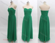 Green evening dress long bridesmaid dress formal by KissyBride, $99.00 ETSY