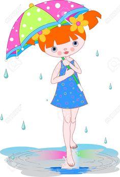 chica bajo la lluvia y un arcoiris - Buscar con Google