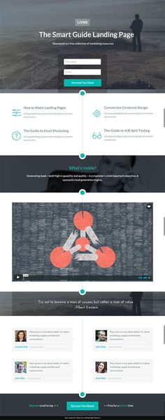 Livre eBook Landing Page Lead Form - Unbounce Conversion Centered Design Template Contest Winner