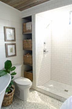 Beautiful subway tile bathroom remodel and renovation (19)