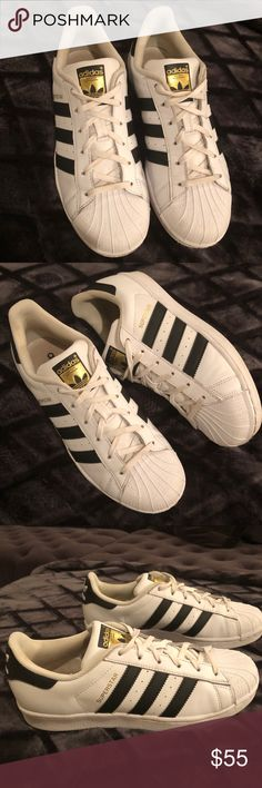 "first rate 5d1b9 9fff6 ... Men8 Women9 Adidas Originals ""Vintage Superstar"" Sneakers Unisex Men s  Size 8   Women s Size 9-9.5 Excellent Preowned Condition adidas Shoes  Sneakers"