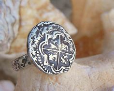 Nautical Jewelry, Nautical Ring, Nautical Silver Jewelry, Pirate Ship via HappyGoLicky
