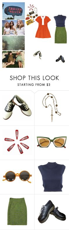 """""""cape canaveral has nothing on our flinging bodies"""" by ghoulgirls ❤ liked on Polyvore featuring ASOS, Pamela Love, Fendi, Black Apple, Carven and Dr. Martens"""