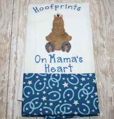 Personalized Baby Burp Cloth Horse-Western Cowboy/ by AddiesThings