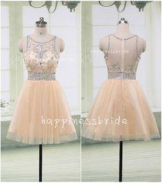 short Prom Dress/short Bridesmaid Dress/custom von happinessbride