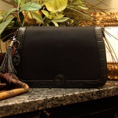 Concealed Carry Classic Black Microfiber Clutch Purse w/ Holster