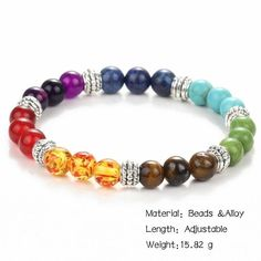 Gorgeous Jewelry Handmade Lover Buddha Style Natural Stone Alloy Shell Beaded Healing Energy Stretch Bracelet