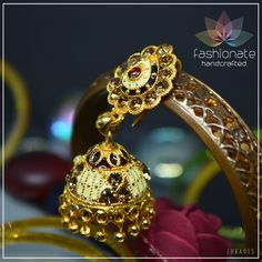 Alloy Based Jhumka Style Earring Gold Polished To Best Finish. Handmade, In Limited Quantity. Best Possible Craftsmanship Assured. All our handmade jewellery is produced in-house. Our craftsmen assure to create quality wearable for all occasions. Gold Polish, Handmade Jewellery, Gold Earrings, It Is Finished, Create, House, Jewelry, Style, Handmade Jewelry