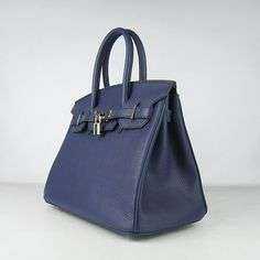 Hermes Birkin Bag 30 Dark Blue