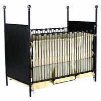Four Post Finial Iron Crib