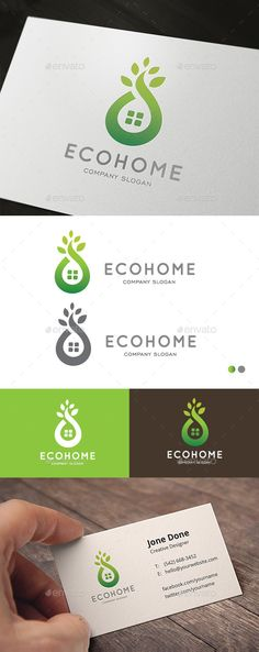 Eco Home Logo Design Template Vector #logotype Download it here: http://graphicriver.net/item/eco-home/12775991?s_rank=1373?ref=nexion
