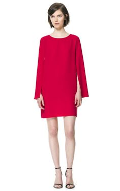 DRESS WITH CAPE SLEEVE - Dresses - Woman | ZARA United States