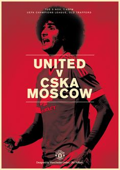 Match poster. Manchester United v CSKA Moscow, 3 November 2015. Designed by @manutd.