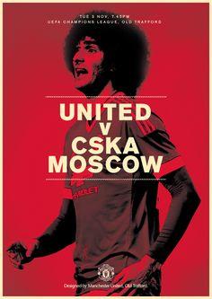 Match poster. Manchester United v CSKA Moscow, 3 November 2015. Designed by @manutd.
