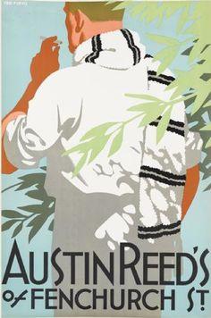By Tom Purvis (1888-1959), ca 1926, Austin Reed's of Regent Street. (British)