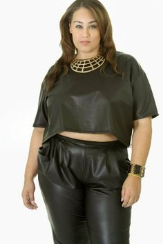 B*Envied Online Clothing Boutique - Faux Leather Mini Top