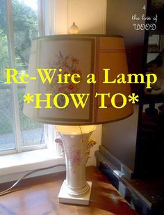 Re-Wire a Lamp - How to blog#Repin By:Pinterest++ for iPad#
