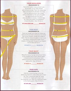 Proper body measurements