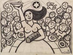 Danish artist Henry Heerup (1907-1993) - Drawing