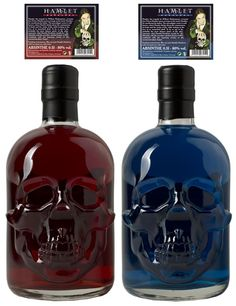 * Two Hamlet Hardcore Absinthes in a Unique Skull Bottle *