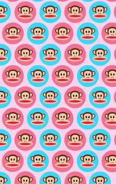 <3 this pink & blue Paul Frank wallpaper!