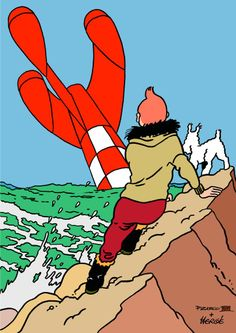 Tintin // mash-up of Explorers on the Moon & The Shooting Star Abc Poster, Poster Prints, Most Expensive Comics, Tin Tin Cartoon, Captain Haddock, Herge Tintin, Alphabet, Ligne Claire, Chef D Oeuvre