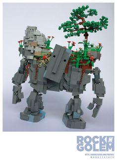 m_o_n_k_e_y's Lego Rock Golem