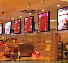 Menu Lightboxes for Dunkin Donuts.