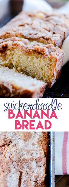 Snickerdoodle Banana Bread https://www.somethingswanky.com/snickerdoodle-banana-bread/?utm_campaign=coschedule&utm_source=pinterest&utm_medium=Something%20Swanky&utm_content=Snickerdoodle%20Banana%20Bread