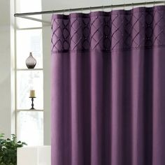 Roxanne Purple Shower Curtain,,,add with a teal or current pewter curtain