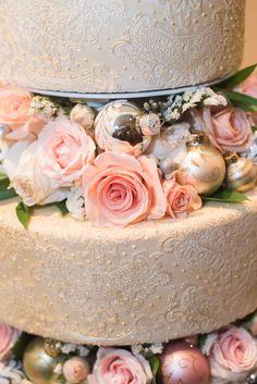 Homemade Three-Tiered Wedding Cake