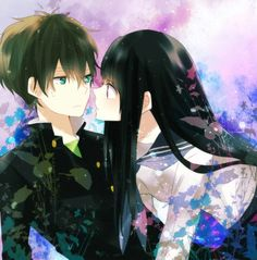 hyouka - oreki-kun & chitanda-chan. will the ever kiss?