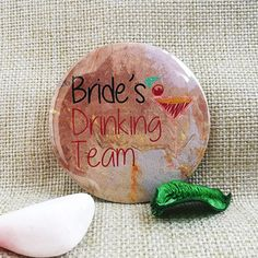 Insigna Bride's Drinking Team Coolori.ro Drinking, Bride, Wedding Bride, Beverage, Drink, The Bride, Bridal, Drinks