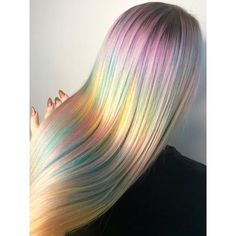 Kaleidoscope Hair Is the New Watercolor-Inspired Take on Rainbow Hair-Color Trends Pastel Rainbow Hair, Hair Colorful, Watercolour Hair, Pelo Multicolor, Opal Hair, Pinterest Hair, Big Chop, Cool Hair Color, Short Hair