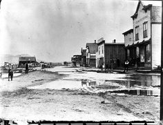 Kelowna, B.C. circa 1900 - It was merely a transit point for CP Rail and it's ferries. Imagine all the goods that were unloaded and transported up this road by horse drawn wagon and Ox cart.