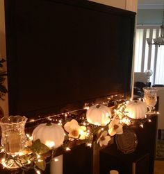 My white pumpkin decor for Fall! Just did this today! Love it!