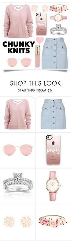 """Get Cozy: Chunky Knits"" by lizabeth-rose ❤ liked on Polyvore featuring MINKPINK, Ray-Ban, Casetify, Annello, Topshop, Charlotte Russe, Smith & Cult, chic, polyvoreeditorial and chunkyknits"