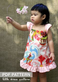 NEW Lauren Dress - PDF Pattern - Size 12 months to 8 years old and tutorial. $6