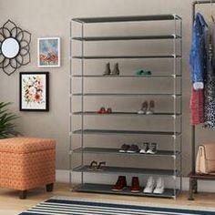 50 Pair Shoe Rack, Diy Shoe Rack, Shoe Racks, Garage Shoe Storage, Shoe Storage Cabinet, Easy Bathroom Updates, Hanging Shoe Rack, Bathroom Standing Cabinet, Stackable Shoe Rack