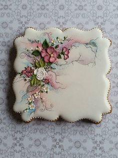 Mezesmanna's cookie art work is amazing. Fancy Cookies, Vintage Cookies, Iced Cookies, Cute Cookies, Easter Cookies, Royal Icing Cookies, Cupcake Cookies, Sugar Cookies, Cupcakes