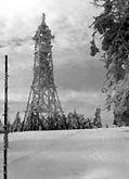 Velká Deštná v zimě 1976/77 (foto Ivan Pašťalka)