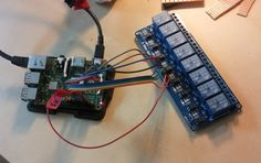 Raspberry Pi with Sainsmart 8-channel 250V relays board