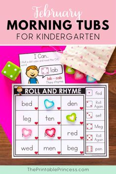 This resource includes 21 literacy and math activities with an adorable Valentine's theme. The activities make the perfect kindergarten morning tubs that are easy to prep, allow for differentiation, interactive, hands-on activities to keep students engaged and learning all month long. Subtraction Activities, Kindergarten Math Activities, Sight Word Activities, Counting Activities, Letter Activities, Preschool Math, Kindergarten Teachers, Teaching Sight Words, Teaching Numbers