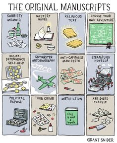 This is what books look like before they are sent to the publisher (Grant Snider)