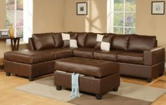 I love my brown leather sofa :)