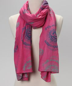 Take a look at this Baby Pink Gayatri Mantra Prayer Shawl by OMSutra on   zulily 2e2fc210cf142
